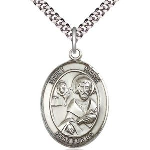 Sterling Silver St Mark the Evangelist Pendant